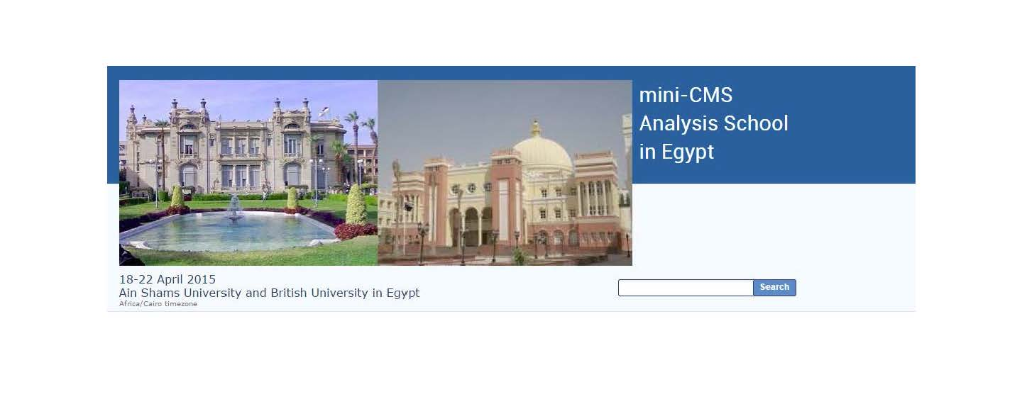 The first mini-CMS Analysis School in Egypt